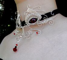 Wire Wrap - Vampire Blood Dragon Interchangeable by LadyPirotessa