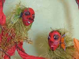 Butterfly Monkeys -Closeup by 7Aes