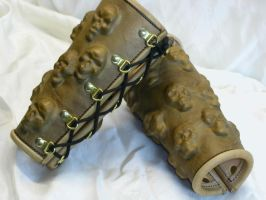 Stolen souls armor  bracers 2 by GriffinLeather