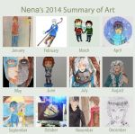 2014 Summary of Art by FrostedWatercolor