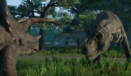 T.Rex vs Triceratops (JW: Evolution) by WillDynamo55