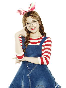 Lizzy (Orange Caramel) PNG Render by classicluv