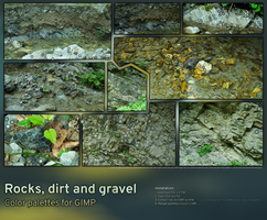 Rocks, dirt and gravel | Color palettes for GIMP by xTernal7