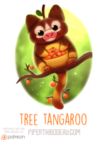 Daily Paint 1576. Tree Tangaroo by Cryptid-Creations