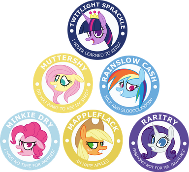 My Little Pony Buttons! by Comeha