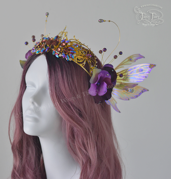 Amethyst Fairy Queen Crown by FaeryAzarelle