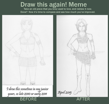 Before and After: Warrior Elf by xxxgiottoxxx