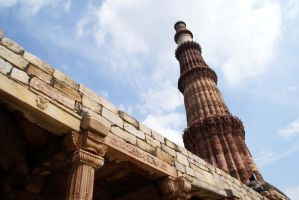 Qutab Minar-India by Art-by-Jilani