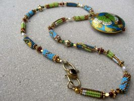 Butterfly Garden Necklace by penguine145