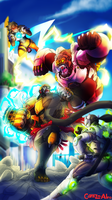 Doomfist vs Overwatch by Corazon-Alro4