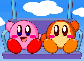 Kirby and Waddle Dee (Remake) by cuddlesnam
