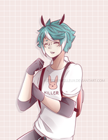Speedpaint || The Bunny Guy by AsterMerveilleux