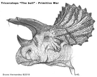 Triceratops The bull - Primitive War by Christoferson