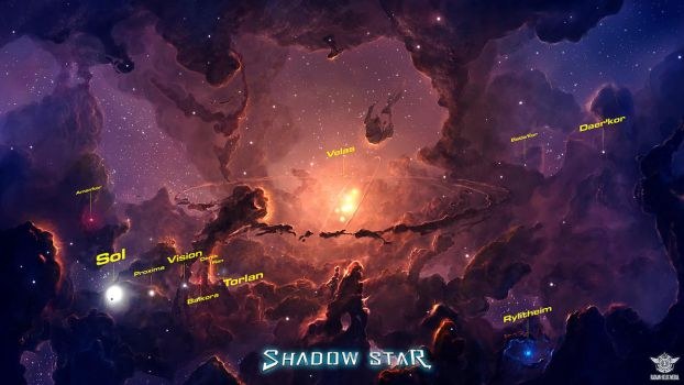 Shadow Star Nebula Concept (Commission) by cosmicspark