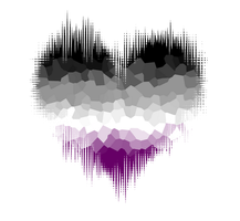 Asexual Glitch Heart by Pride-Flags