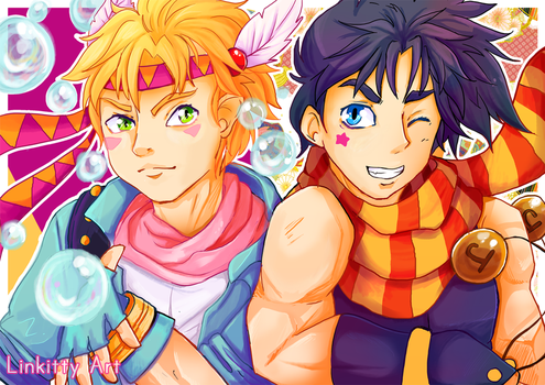 [ Joseph x Caesar ] Jojo's bizarre adventure by linkitty
