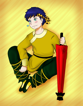 Dave as Ryoga by kuki4982