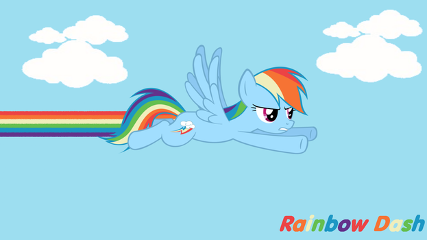 MLP: Rainbow Dash: Dashing Off Background by SweetCandace