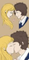 Cosette and Marius by tiannangel