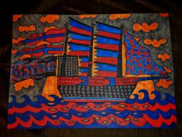 ship 4 the red n blue by bernardojr