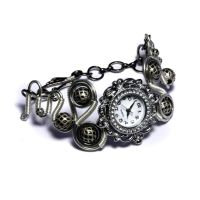 Steampunk Silver tone watch by CatherinetteRings