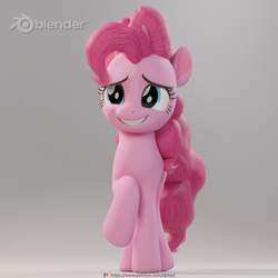 Pinkie Pie Nervous Smile by TheRealDJTHED