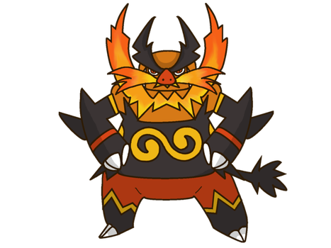 Emboar With Mustache...on FIRE! by starhavenstudios