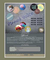 Pinned Voice - badges, buttons and pins fanlisting by PinkWoods