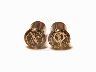 0g Steampunk Tunnels Gauges by jewelryfx