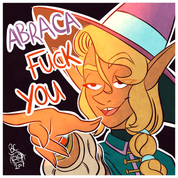 TAZ Abraca fuck you by Draco-Digi