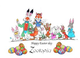 Happy Easter day Zootopia by FairytalesArtist