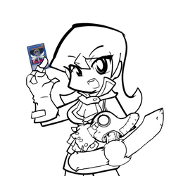 [Yu-Gi-Oh]Alexis Rhodes Lineart by clone1542