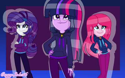 MLP EqG The Dazzlings Lets Do This! (Background) by SpeedPaintJayvee12
