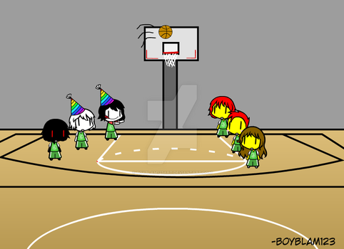 If BB123 And His Team Plays Basketball by BoyBlam123Art