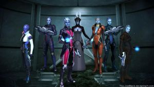 Mass Effect - The Asari by ShaunsArtHouse