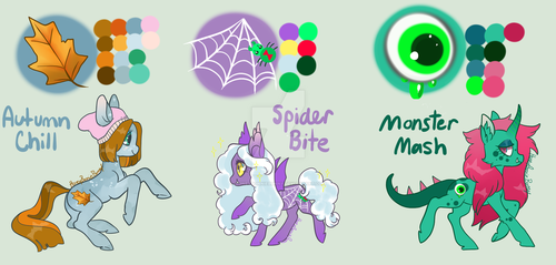 More 2017 Halloween Pony Adopts, CLOSED by HoneyBonnieBunny