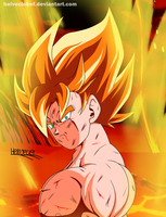 Goku the super saiyan! by HelvecioBNF
