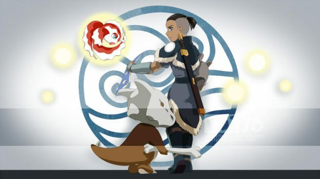 Sokka, Marowak and Goldeen by ruistyfles