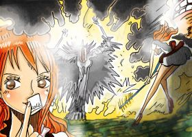 One Piece Chapter 837 Nami VS Charlotte Brulee by Amanomoon