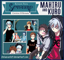 Render Pack ~ SerVamp [Kuro and Mahiru] by StelaScarlett