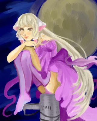 Chii on a Moonlit Night by chubby-manatee