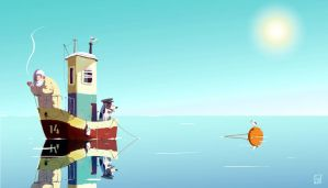 Sea and the sun by Osadchikh