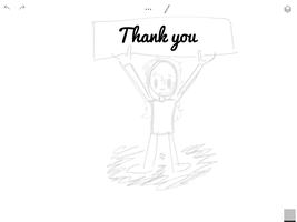 Thank you! (Layers) ( step 1 sketch) check info--- by Pinkie---Dash