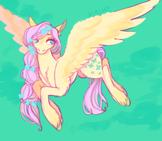 fluttershy redesign by k9core