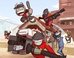 Team Fortress 2 Parody Commission by samandfuzzy