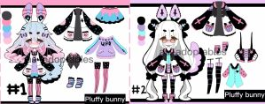 Pluffy Bunny adoptable BATCH  closed (RARE) by AS-Adoptables