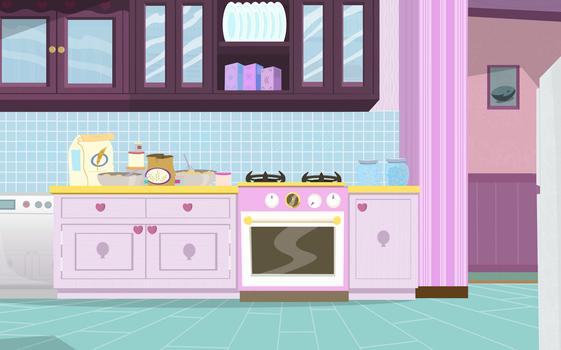 Pinkie Pie's Kitchen (Vector Background) by InvisibleInkDoodles