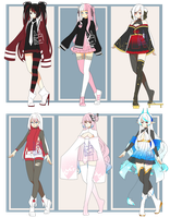 Adopts!- SET PRICE- $10-$15/each [OPEN] by BakaBun