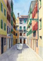 Venice calle by aileensea