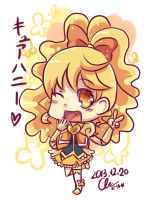 Happiness Charge Precure: Cure Honey chibi by Puyo0702